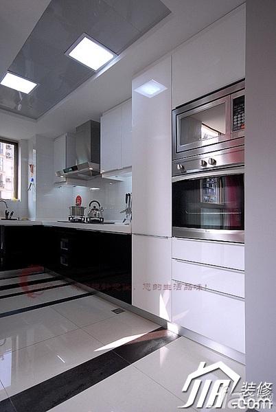 设计年代简欧风格公寓时尚暖色调富裕型厨房橱柜婚房设计图纸