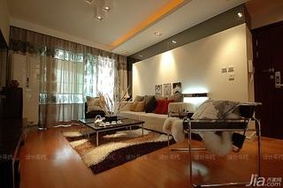 简约风格二居室稳重富裕型客厅沙发效果图