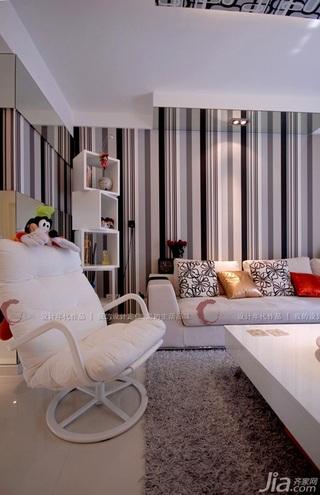 设计年代简约风格公寓富裕型客厅壁纸效果图