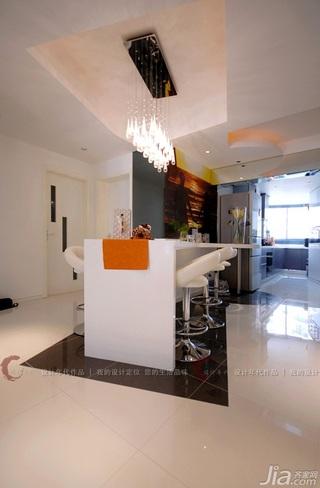 设计年代简约风格公寓富裕型餐厅吧台吧台椅效果图