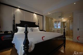设计年代欧式风格公寓奢华暖色调豪华型卧室隔断床效果图