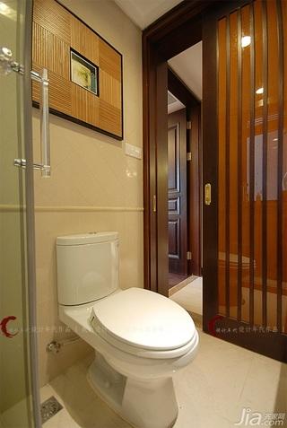 设计年代欧式风格公寓暖色调卫生间隔断效果图
