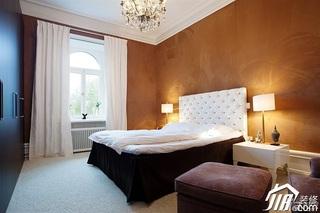 简欧风格别墅富裕型卧室壁纸效果图
