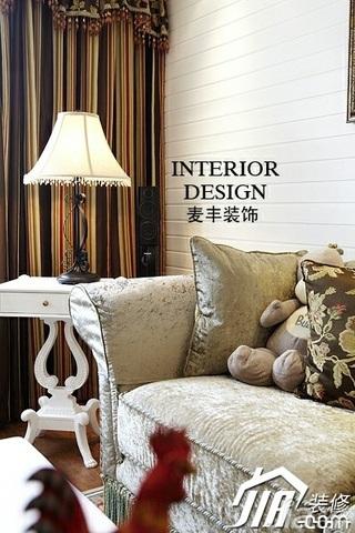 美式乡村风格别墅富裕型120平米客厅沙发效果图