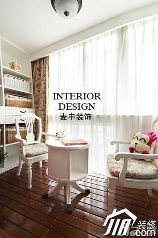 美式乡村风格别墅富裕型120平米卧室窗帘效果图