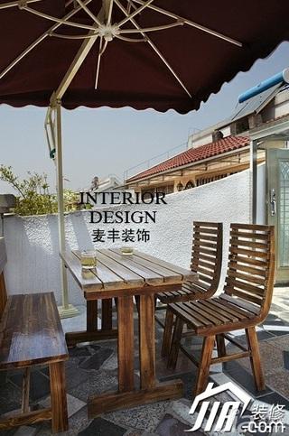 美式乡村风格别墅富裕型120平米露台装修图片