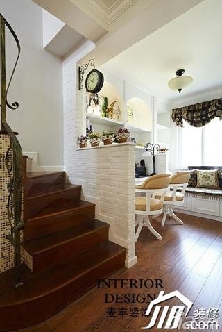 美式乡村风格别墅富裕型120平米楼梯设计图纸