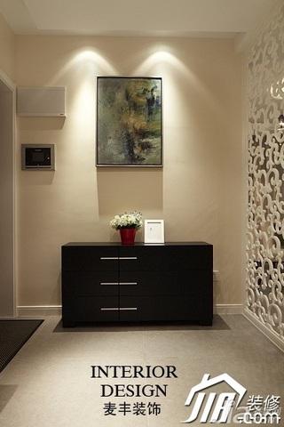 公寓富裕型110平米门厅隔断玄关柜效果图