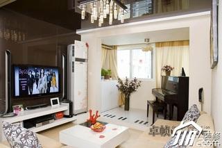 简约风格公寓奢华暖色调富裕型客厅茶几效果图