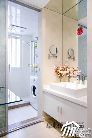 简约风格公寓奢华暖色调富裕型卫生间洗手台效果图