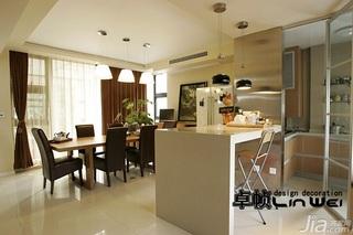 欧式风格复式大气暖色调富裕型140平米以上餐厅吧台餐桌图片