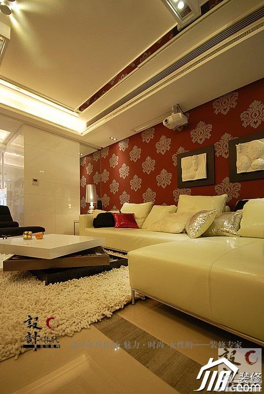 欧式风格公寓奢华暖色调富裕型客厅沙发背景墙沙发效果图