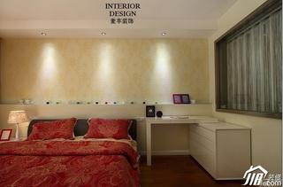 简约风格公寓经济型130平米卧室隔断壁纸效果图