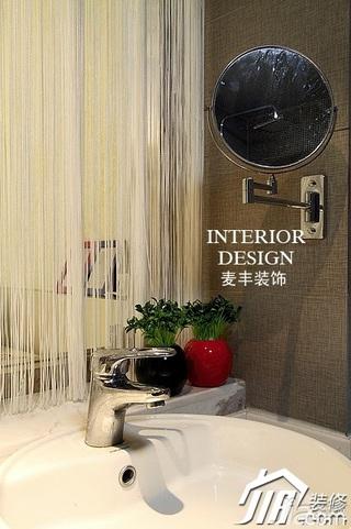 中式风格公寓经济型130平米卫生间装潢