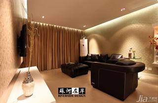 简约风格公寓稳重咖啡色富裕型客厅沙发效果图