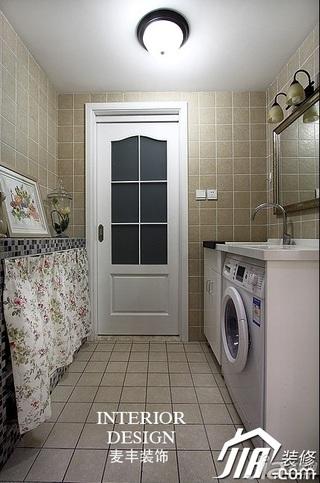 欧式风格公寓富裕型130平米洗衣房装修效果图