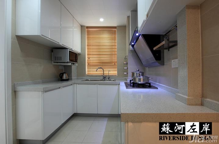 简约风格公寓时尚暖色调富裕型厨房橱柜订做