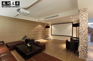 欧式风格别墅大气暖色调富裕型140平米以上影音室沙发效果图