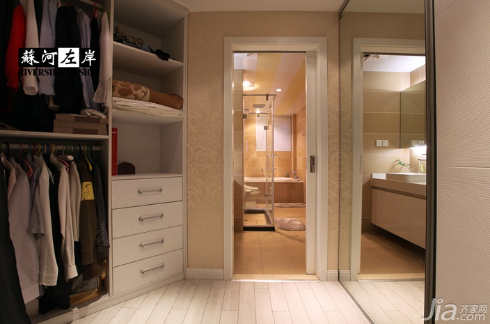 简约风格公寓时尚暖色调富裕型衣帽间衣柜订做