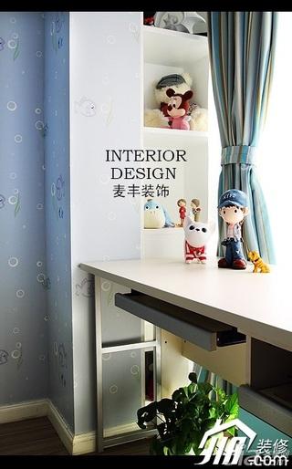 欧式风格公寓富裕型110平米儿童房窗帘效果图