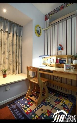 简约风格公寓富裕型100平米儿童房飘窗书桌效果图