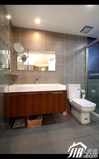 简约风格公寓经济型100平米卫生间浴室柜效果图