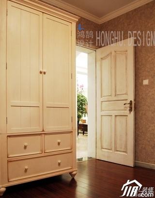 美式乡村风格公寓浪漫富裕型卧室衣柜设计图