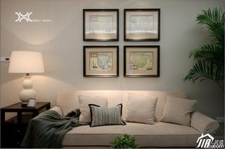 美式风格公寓大气暖色调富裕型客厅沙发效果图