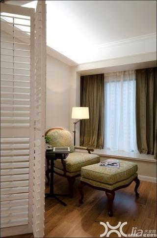 美式风格公寓大气暖色调富裕型飘窗效果图