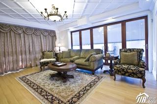 简欧风格公寓富裕型客厅灯具效果图