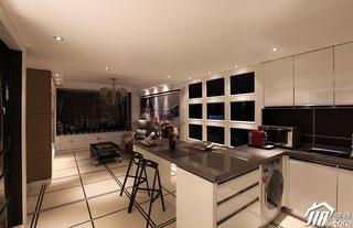 新古典风格公寓奢华褐色豪华型厨房吧台吧台椅效果图