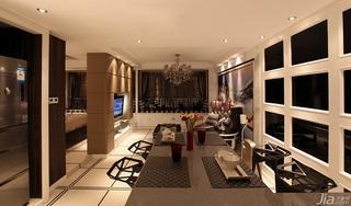 新古典风格公寓奢华褐色豪华型餐厅吧台装修效果图