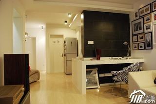 日式风格公寓温馨米色富裕型工作区设计图纸