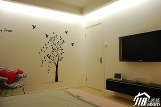日式风格公寓温馨米色富裕型卧室背景墙效果图