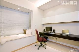 简约风格公寓大气米色豪华型书房飘窗书桌效果图