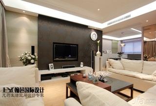简约风格三居室富裕型140平米以上电视背景墙壁纸效果图