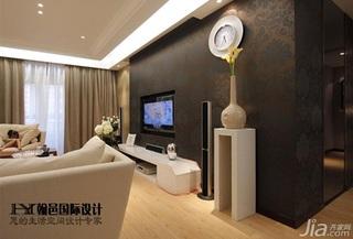简约风格三居室富裕型140平米以上壁纸效果图
