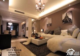 简欧风格公寓简洁富裕型客厅沙发背景墙沙发婚房平面图