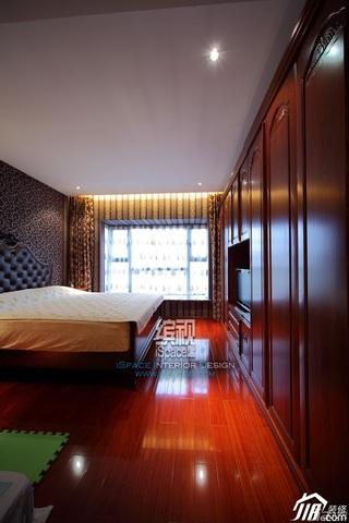 混搭风格公寓温馨富裕型130平米卧室衣柜设计图