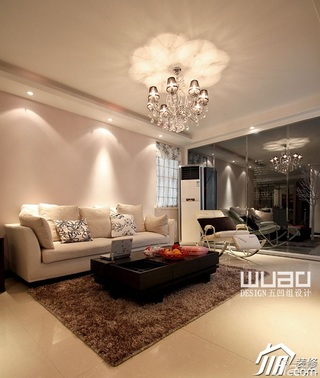 欧式风格公寓大气富裕型客厅沙发婚房家装图片