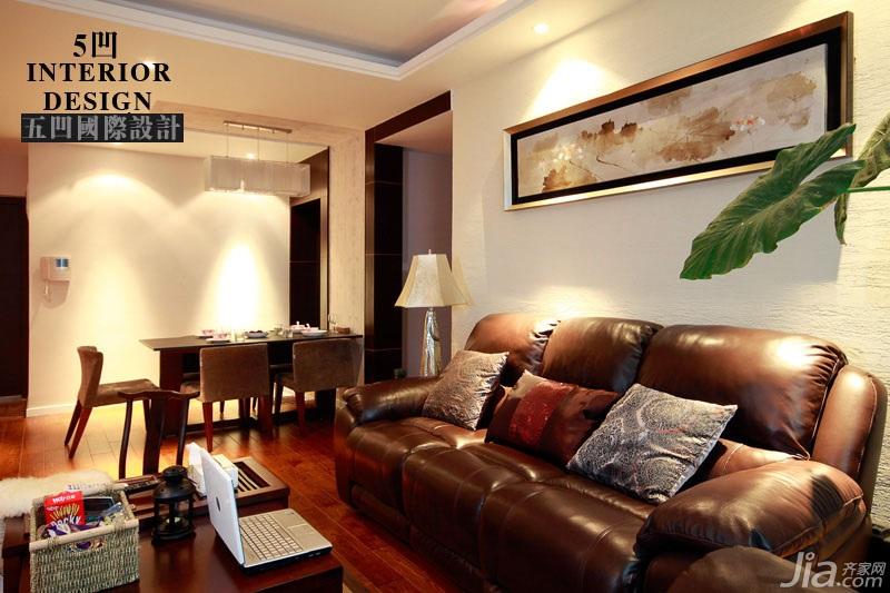 新古典风格公寓时尚咖啡色富裕型客厅沙发背景墙沙发图片