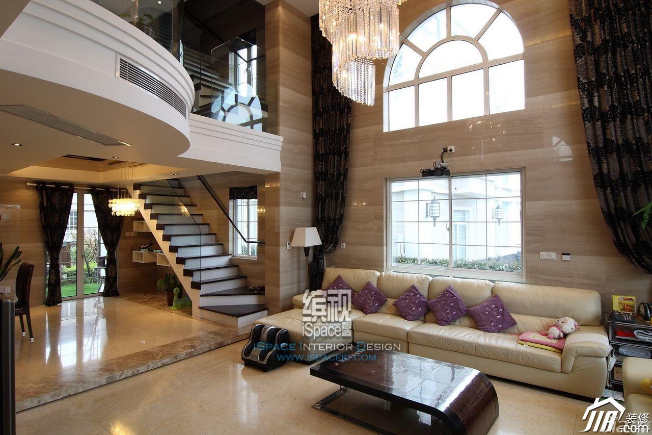 别墅装修,富裕型装修,欧式风格,客厅,沙发,茶几,奢华,缤视设计