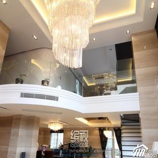 欧式风格别墅富裕型客厅灯具效果图