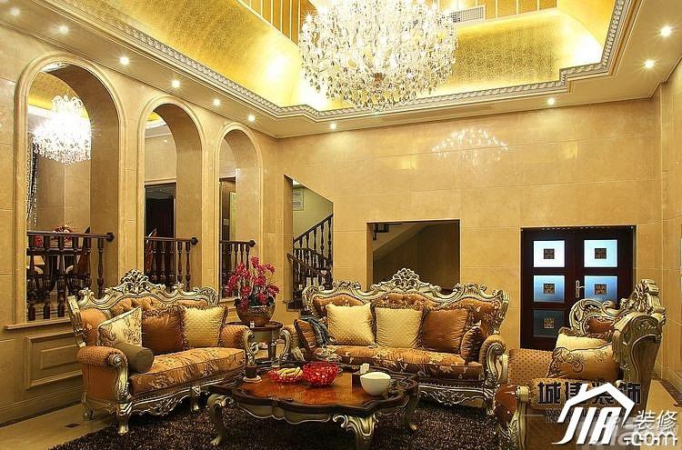 简欧风格别墅奢华豪华型客厅沙发图片