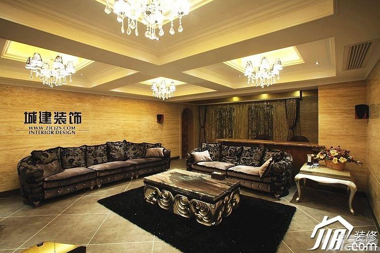 简欧风格别墅奢华豪华型客厅灯具图片图片