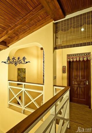 混搭风格别墅温馨暖色调豪华型过道设计