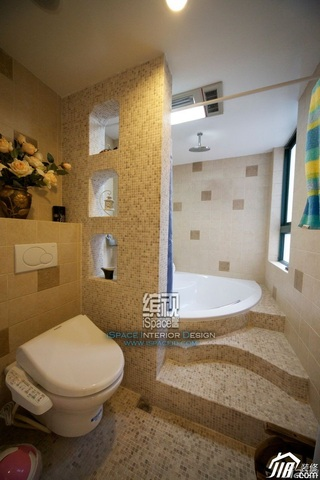 混搭风格公寓富裕型130平米卫生间装潢