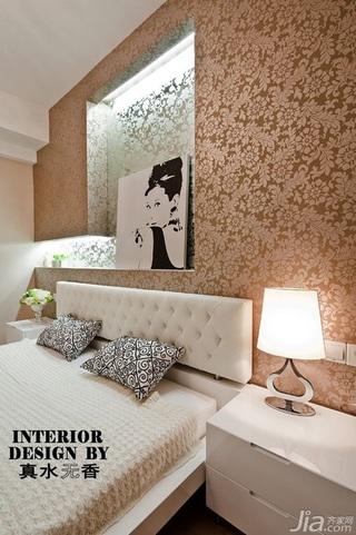 简约风格公寓时尚富裕型140平米以上卧室卧室背景墙灯具效果图