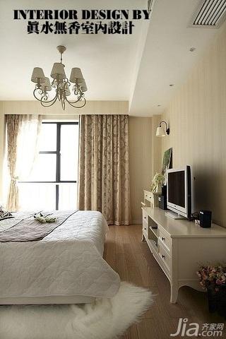 简约风格公寓冷色调富裕型130平米卧室电视柜效果图