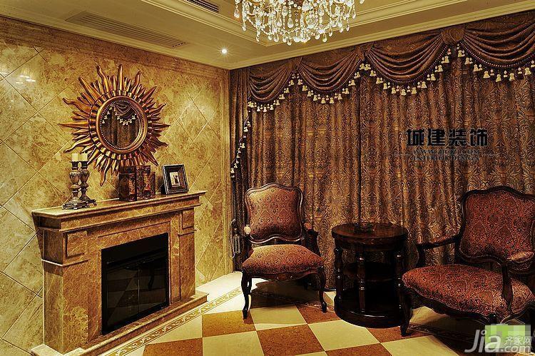 欧式风格公寓豪华型客厅背景墙装修图片